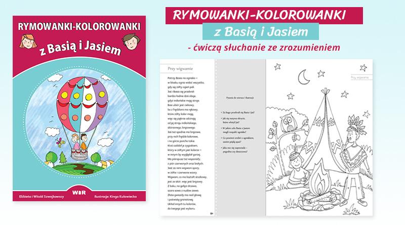 Rymowanki-kolorowanki z Basią i Jasiem – ćwiczenia słuchania ze zrozumieniem
